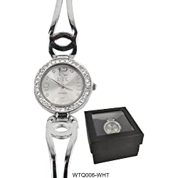 BTL Diamante Encrusted Circular Face Metallic Strap Ladies Watch - Comes boxed