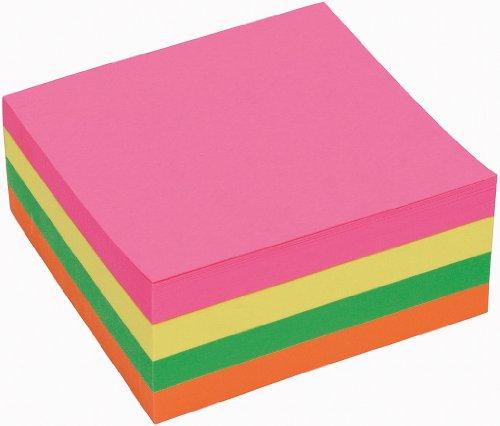 5 Star Haftnotizwürfel mit 320 Notizzetteln 76 x 76 mm Neon-Regenbogen