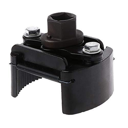 DEDC Olio Filtro Regolabile Chiave 1/2' Universale 60-80 mm Kit di Rimozione Strumento in Acciaio Nero