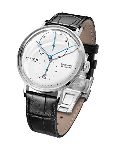 Herrenuhr Automatik FEICE Armbanduhren mit Lederarmband Armbanduhr für Männer mit Gewölbtes Mineralglas Klassisch Armbanduhr Mechanische Watch - FM202