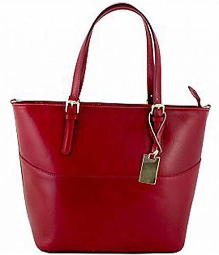 echtem Leder G Tasche Damen aus PELLETTERIA rot G ZCBwxq1w