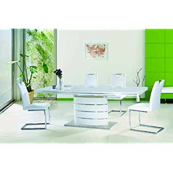 Fano Dining Room Furniture Set Including Column Table 90 X 160 75 Cm Extendible