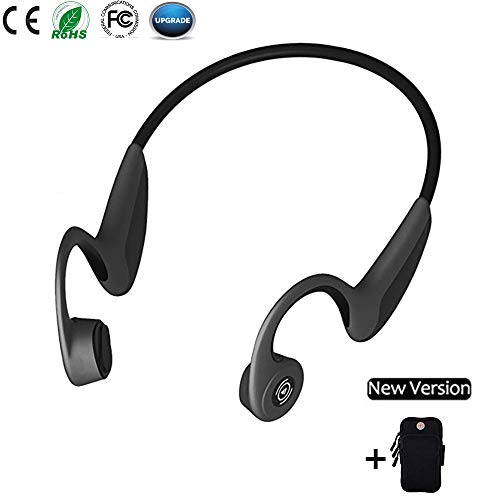 Bone Conduction Headphones, Open Ear Bluetooth Wireless Headsets 36g Lightweight Sweatproof Sport Headphones for Safe Plogging Running Driving Cycling Compatible with...