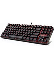 Redragon Kumara K552 LED Backlit Mechanical Gaming Keyboard Without Numlock Keys (Red)