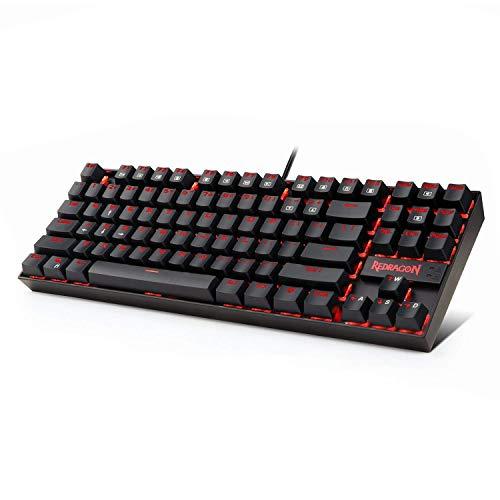 Redragon Teclado Juegos Mecánico Rojo Iluminado K552
