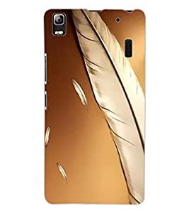 ColourCraft Lovely Feathers Design Back Case Cover for LENOVO A7000 TURBO