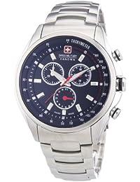 Swiss Military Hanowa 06-5171.04.007 - Reloj analógico de cuarzo para hombre, correa de acero inoxidable color plateado (cronómetro)