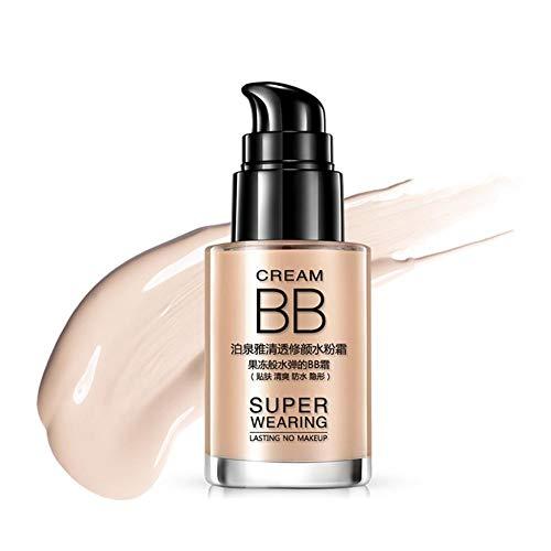 BB Cream Getönte Tagespflege, BIOAQUA Hyaluronsäure Konzentrat Gel für Gesicht, Hals, Dekolleté und Augen - Vegane Anti-Falten Feuchtigkeitsbehandlung für Frauen und Männer