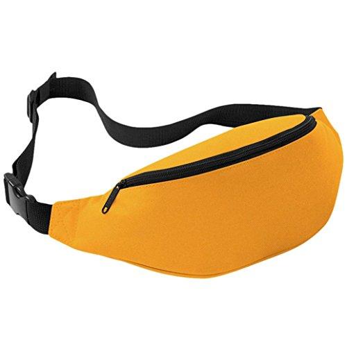 FEITONG Unisex Outdoor Oxford Sports Laufen Hüfttasche Reisen Handlich Wandern Gürteltasche Gürtel Tasche Beutel 2 liters (Blau) Gelb