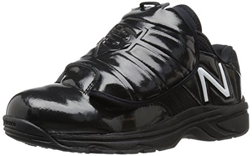 New Balance Men\'s MUL460W3 Umpire Baseball Shoe, Black/White, 14 4E US
