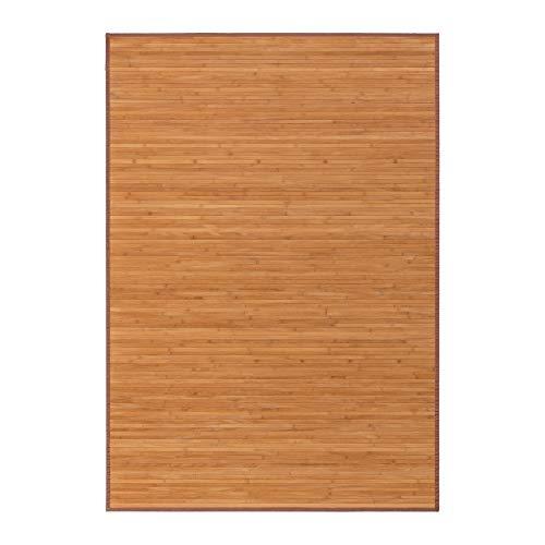 Alfombra pasillera industrial marrón de bambú de 140 x 200 cm Factory - Lola Derek