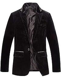 normani Unisex Weste Anzugweste Basic in Schwarz mit echten Taschen Silvester oder Kellner f/ür Hochzeit