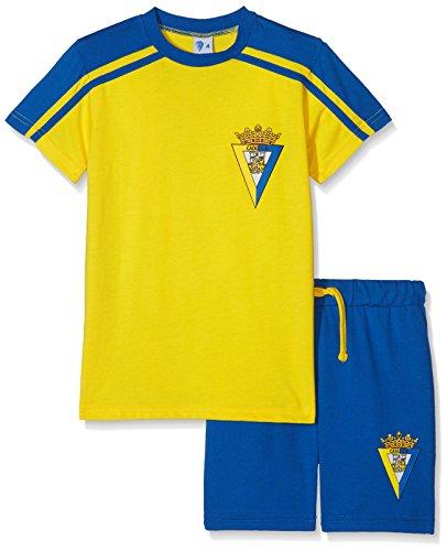 Cádiz CF Pijcad Pijama Corta, Bebé-Niños, Multicolor (Amarillo/Azul), L