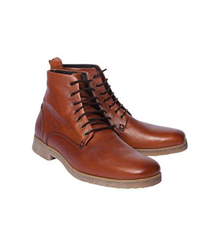 NOBRAND Herren Schuhe Schnürer Schnürschuhe Schnürhalbschuhe - Viskose - braun aztec 40