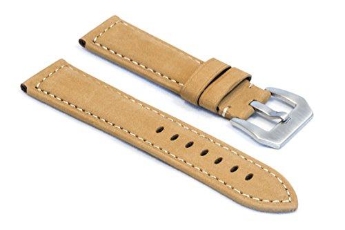 watchassassin-soft-flexible-tan-watch-strap-24mm
