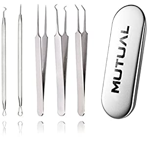 MUTUAL® Extracteurs de comédons comédons Set (5 pièces)