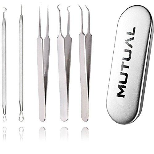MUTUAL® 5 Stücke Mitesserentferner Komedonenquetscher Set