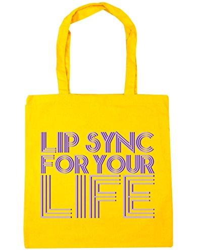 hippowarehouse-lip-sync-for-your-life-pintalabios-para-la-vida-bolso-de-playa-bolsa-compra-con-asas-