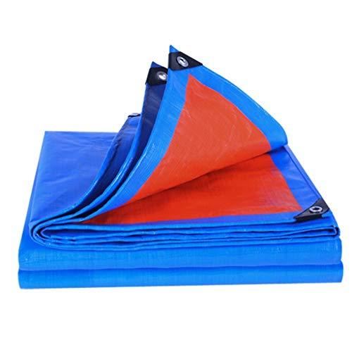ZHAOTARPS Plane, Plane Wasserdicht Heavy Duty, PE-Plane Wasserdicht Anti-Sonne Tragen Und Langlebig Antialterung Zum Zuhause Draussen (Color : Blue, Size : 3M × 3M)