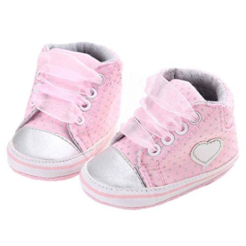Amlaiworld Baby Sneaker rutschfest weiche Sohle Schuhe Rosa