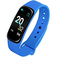 Caviot Multifunctional Blue Smart Fitness Tracker Unisex Band Watch - CW1306