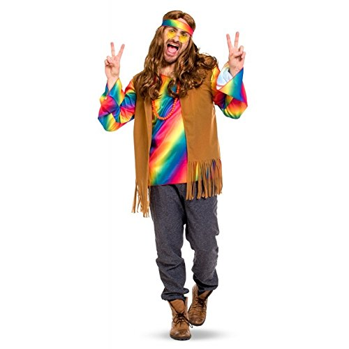 Folat 63383 Hippie-Outfit Männer-Größe XL-XXL (Hippie Kostüm Männer)