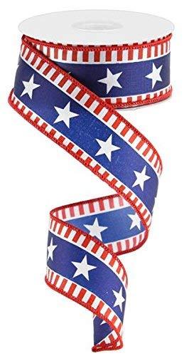 Stars & Stripes Draht Rand Band-10Meter 1.5