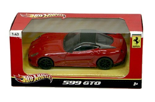 Hot Wheels Ferrari 1:43 599 GTO Die-Cast Fahrzeug X5535 (Gto Wheels Hot)