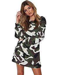 d8d2b8aff Amazon.es  vestido camuflaje mujer - Ajustado   Vestidos   Mujer  Ropa