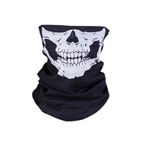 HITOP Multifunktionale nahtlose Magie Schädelschal,es kann Gebrauch als Halloween Props sein,Variety Maske,warmer Schal Für eine Vielzahl von Außenbedingungen und bei 18 Arten von Nutzungs