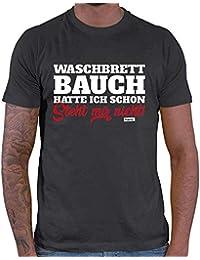 dd38f4cc241db3 HARIZ Herren T-Shirt Waschbrettbauch Hatte Ich Schon Steht Mir Nicht Männer  Sprüche Inkl.