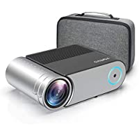 "Projector, Vamvo Mini Projector 4000 Lumens Portable Video Projector L4200, Home Cinema Projector Support Full HD 1080P, 200"" Display Supported, Compatible with HDMI/VGA/USB/AV, TV Stick, PS4 etc."