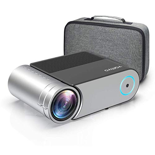 Projecteur, Vamvo Videoprojecteur Portable 4000 Lumens, Retroprojecteur Supporte Full HD 1080P, Mini Projecteur avec 50,000 Heures, Vidéoprojecteur Compatibles avec HDMI, VGA, AV, USB