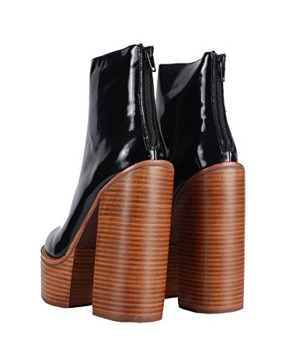 Jeffrey Campbell Mulder Boots Black-Boots Noirs talon en bois Noir
