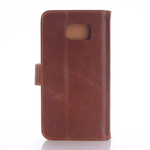 Samsung Galaxy S6 Case,drei Seiten - Und Cash - Design Gut Lederetui Stehen Vor Fall Verriegelung Für Samsung S6 ( Color : 4 , Size : Samsung S6 ) 4