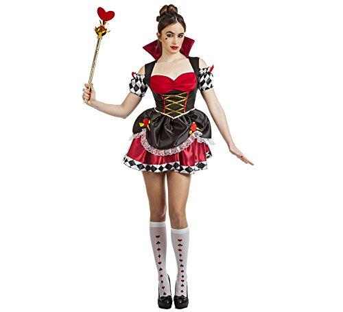 Imagen de disfraz de reina de corazones corto para mujer