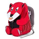 Affenzahn Kinderrucksack mit Brustgurt Fiete Fuchs für 3-5 Jährige Jungen und Mädchen im Kindergarten oder Kita - Rot