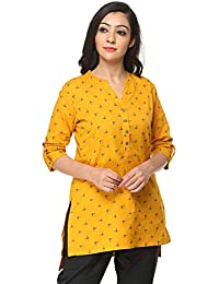 Pistaa's Women's Printed Short Top Kurti with Plus Size