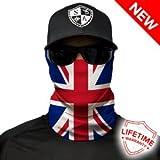 Mehrere Designs Multifunktionstuch Schlauchtuch Schal Maske Kälteschutzmaske Halloween Skifahren Snowboard Angeln Jagen Fahrrad Motorrad Paintball (Union Jack GB)