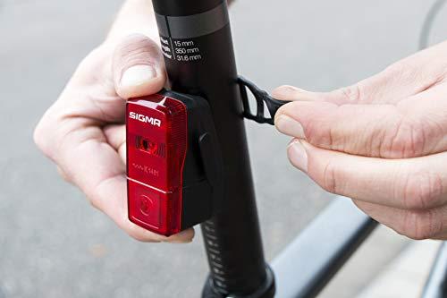 Sigma Sport LED Batterie Fahrradbeleuchtung AURA 25/CUBIC SET, 25 LUX/400 m Sichtbarkeit, batteriebetriebene Fahrradlampe + Rücklicht, StVZO zugelassen, Schwarz - 2
