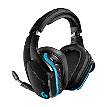 Logitech G935 Cuffie Gaming RGB Wireless, Audio Surround 7.1, Cuffie DTS: X 2.0, Driver Pro-G 50 ‎mm, 2.4 GHz Wireless, Microfono Flip-to-Mute, Tasti G, PC/Mac/Xbox One/PS4/Nintendo, Nero