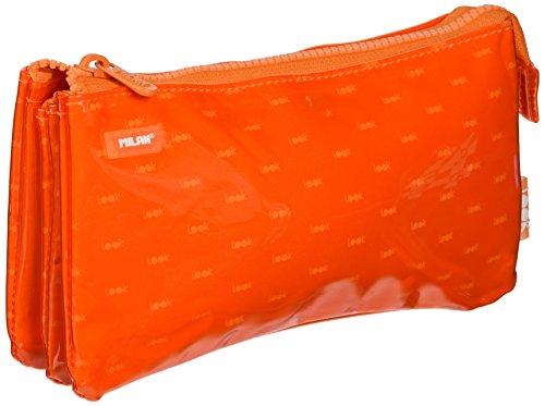 Milan Look 2 Estuches, 22 cm, Naranja