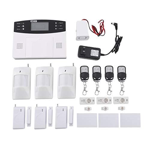 LouiseEvel215 Drahtlose GSM Home Security Alarmanlage Detektor Sensor Anruf LCD-Bildschirm Intelligente Auto Tür Alarmanlage -