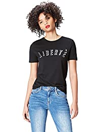 FIND Women's Slogan Crew Neck T-Shirt