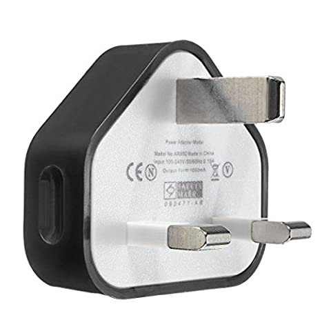 USB Wall Charger Plug(2 Pack),Hizek Travel Adaptor Mains Charger CE UK Plug USB Port Certificated 5V 1A 3PIN Compatible with Apple iPhone 6 6 Plus 5S 4S 5C 5 4 iPod Samsung Galaxy S6 S5 S4 HTC LG Sony / MP3 MP4