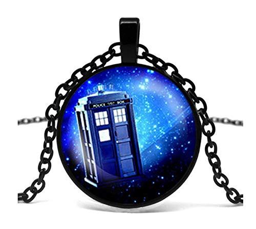 GUHUA Steam Punk Drama Doctor Who Tardis Halskette Doctor Who Time Lord Companion Time Purple Nebula Chain Männer Anhänger Schmuck (Who Kostüm Doctor Beste)