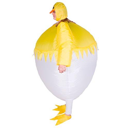 Imagen de disfraz de pollo gallina hinchable para adultos alternativa