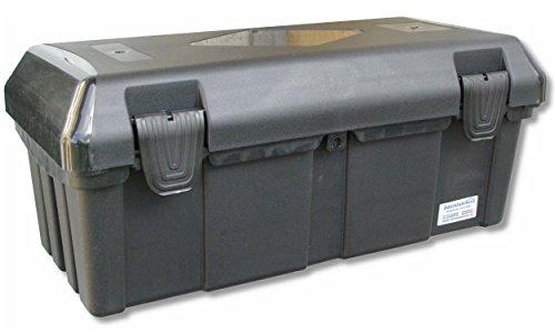 Preisvergleich Produktbild Deichselbox mit 2 Verschlüssen, Werkzeugkasten für Anhänger Staukiste ca. 30 ltr Anhängerbox, Daken B23-0