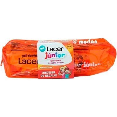 Lacer - Kit neceser y dentífrico Junior 75 ml | 6a+ | 1500 ppm F- | Fresa