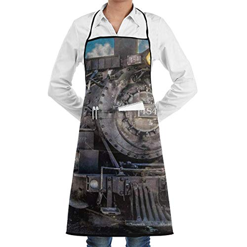 Drempad Schürzen Retro Steam Train Apron Kitchen Cooking Commercial Restaurant Apron for Women and Men-Perfect for Gifts